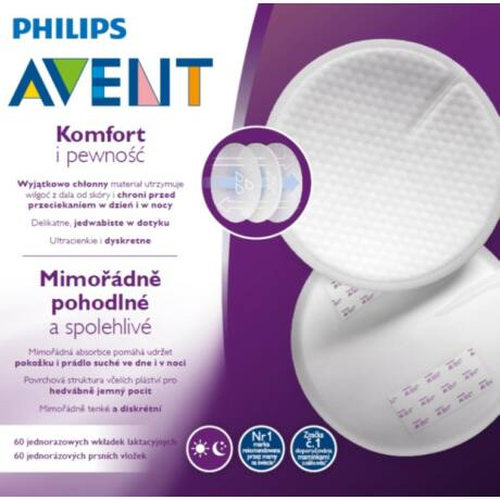 Philips Avent Eldobható melltartóbetét – nappali 60 db - SCF254/60