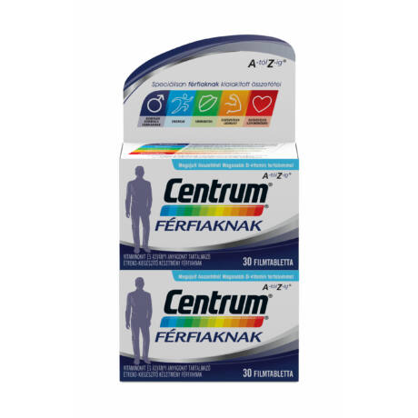 Centrum® Férfiaknak A-tól Z-ig® multivitamin 30 + 30 db Októberi szállítás