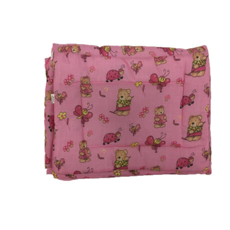 Bébi ágynemű garnitúra 2-részes- rózsaszín