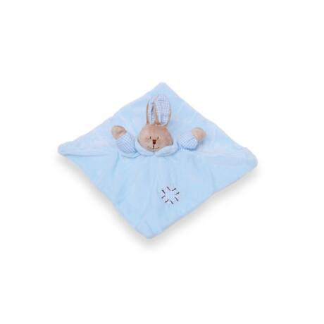 BB Plüss nyuszi szundikendő pasztell- kék