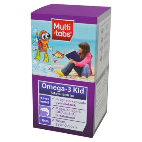 Multi-tabs® Omega3-Kid halolaj kapszula gyermekeknek 30 db