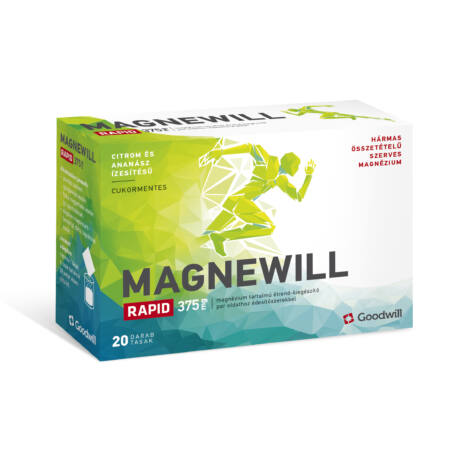 Magnewill Rapid 375 mg étrendkiegészítő por 20x