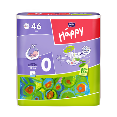 Nadrágpelenka 0-2kg, Happy - before newborn - X46