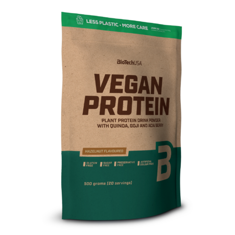 Vegan Protein, fehérje vegánoknak-mogyorós- 500 gramm