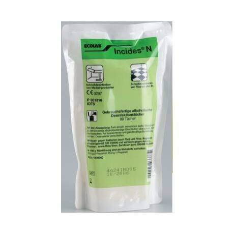 Incides N felületfertőtlenítő törlőkendő, csomag