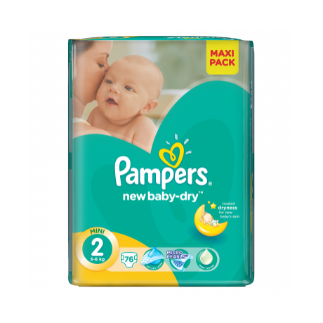 Pampers New Baby Dry 2-es méret, 76 db