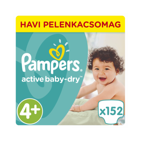 Pampers Active Baby Dry havi csomag (Maxi)