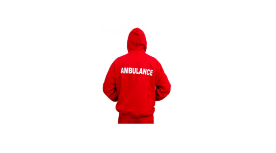Mentős kapucnis pulóver - piros - Mentős ruházat b2873b8b4a
